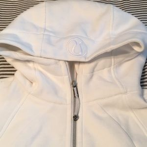 Lululemon white scuba hoodie size 10